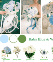 Blue Wedding Flower Packages