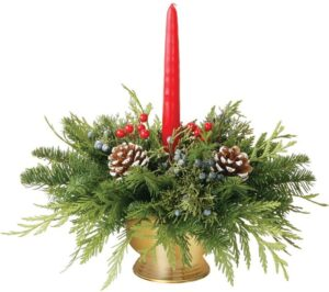 HOLIDAY DECOR DELUXE CANDLE CENTERPIECE