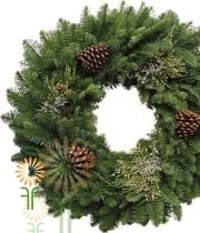 Wreath, Mix W/ Pine Cones 24″ X6
