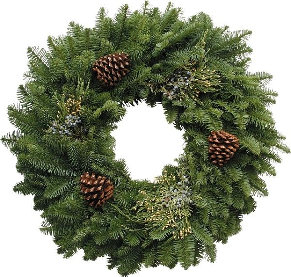 HOLIDAY DECOR MIXED WREATH PINE CONES
