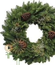 Wreath, Mix W/PineCones 20″ X6