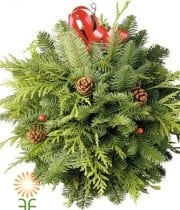 HOLIDAY GREENERY KISSING BALL DECOR