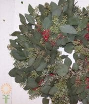 Wreath, Seeded Euc/Pepperberry 22″ X4