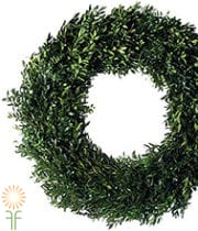 Wreath, Boxwood-green 24″ X4
