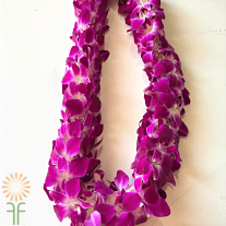 wholesale flowers | orchid- sible lei purple