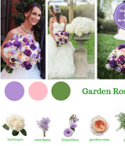 Purple And Blush Wedding Flower Packages