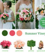 Peach Wedding Flower Packages