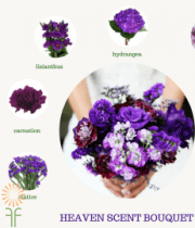 Purple Bouquet Flower Package