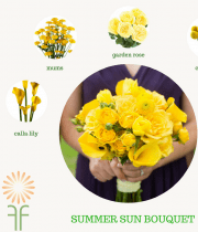 Yellow Summer Bouquet Flower Packages