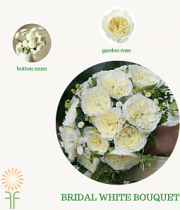 Bouquet Flower Packages-Classic White