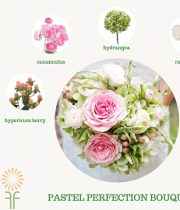 Pastel Pink Bouquet Flower Package