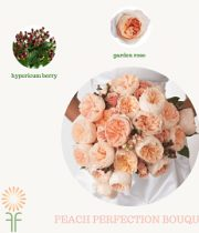 Peach Bouquet Flower Package