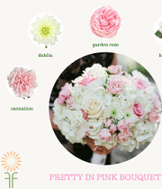 Bouquet Flower Package-Pink & White