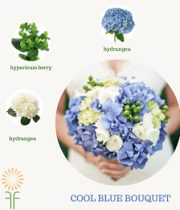Blue Classic Bouquet Flower Package