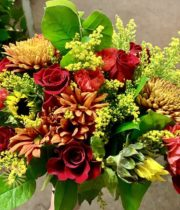 Fall Color Fresh Flower Bouquet ( Free Shipping )