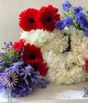 Red, White, And Blue Blooms