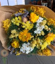 Yellow Fantasy Dried Mixed Bouquet