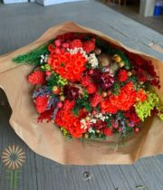 Red Fantasy Dried Mixed Bouquet